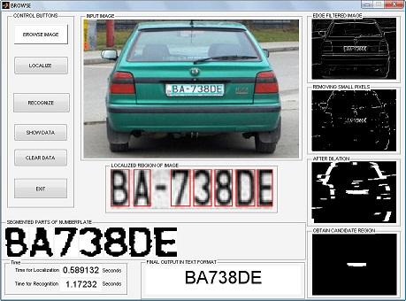 Matlab تشخیص پلاک خودرو با