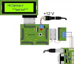 نحوه اتصالات Xmega16A4  5