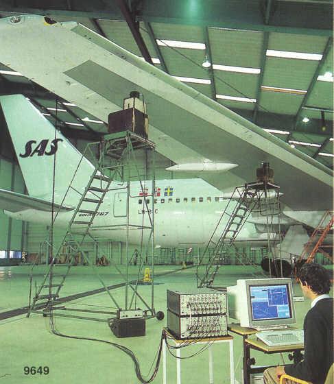 اندازه گیری ارتعاش هواپیما
